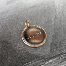 Load image into Gallery viewer, I Believe - Wax Seal Pendant - French motto antique wax seal jewelry charm - RQP Studio