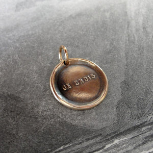 I Believe - Wax Seal Pendant - French motto antique wax seal jewelry charm - RQP Studio