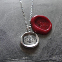 Load image into Gallery viewer, Butterfly Wax Seal Necklace - For A Day - antique wax seal jewelry Carpe Diem motto - RQP Studio