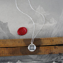 Load image into Gallery viewer, I Have A Care Of The Future - Silver Wax Seal Necklace