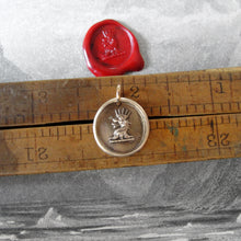 Load image into Gallery viewer, Crowned Lion Bronze Wax Seal Pendant - Dauntless Courage - RQP Studio