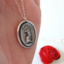 Load image into Gallery viewer, To Dare - Silver Mythical Griffin Wax Seal Necklace - RQP Studio
