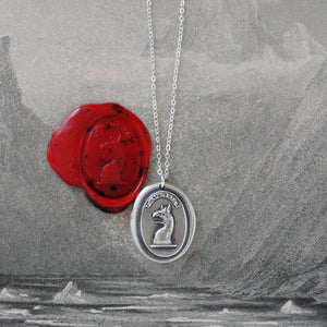 To Dare - Silver Mythical Griffin Wax Seal Necklace - RQP Studio