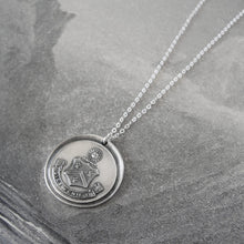 Load image into Gallery viewer, The Day Will Come - Wax Seal Necklace With Silver Sun Crest Splendor - RQP Studio