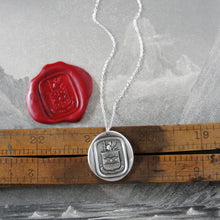 Load image into Gallery viewer, Do Not Yield To Misfortunes - Silver Mythical Griffin Wax Seal Necklace - RQP Studio