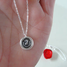 Load image into Gallery viewer, Brave And Faithful - Dog Wax Seal Necklace - Motto Fortis Et Fidelis