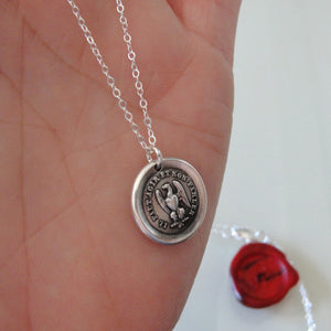 Silver Eagle Wax Seal Necklace - Actions Speak Louder Than Words - RQP Studio