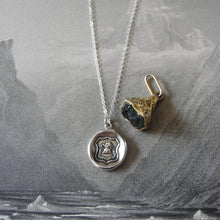 Load image into Gallery viewer, Elephant Wax Seal Necklace - Strength In Goodness - antique wax seal charm jewelry - RQP Studio