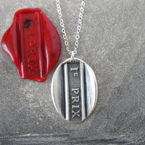 First Prize - Silver Wax Seal Necklace - 1st Prize Place Grand Award