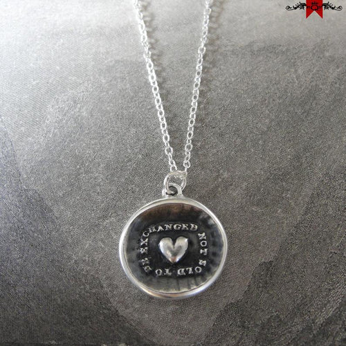 Heart Wax Seal Necklace In Silver - To Be Exchanged Not Sold - RQP Studio