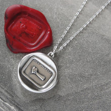 Load image into Gallery viewer, You Deserve More - Silver Wax Seal Necklace Hand Pressing Drops Of Blood From Heart - RQP Studio