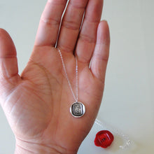Load image into Gallery viewer, Hold Fast - Silver Wax Seal Necklace With Anchor Hope Motto - RQP Studio