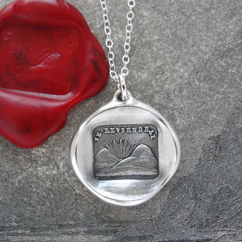 I Will Return - Wax Seal Necklace - A Promise To Meet Again - RQP Studio