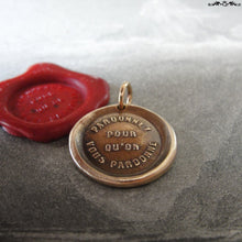 Load image into Gallery viewer, Forgive Others Wax Seal Charm - antique wax seal jewelry pendant - bible quote Forgive So That You May Be Forgiven - RQP Studio