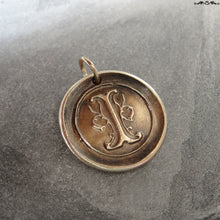 Load image into Gallery viewer, Wax Seal Charm Initial I - wax seal jewelry pendant alphabet charms Letter I - RQP Studio
