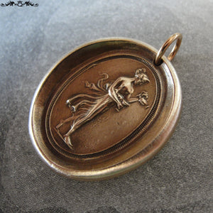 Hebe wax seal charm - Goddess of Youth - antique wax seal jewelry after Antonio Canova - RQP Studio