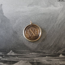 Load image into Gallery viewer, Wax Seal Charm Initial X - wax seal jewelry pendant alphabet charms Letter X - RQP Studio