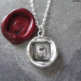 Padlock Wax Seal Necklace - antique wax seal charm jewelry friendship love motto You Have The Key To My Heart
