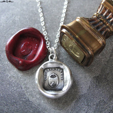 Load image into Gallery viewer, Padlock Wax Seal Necklace - antique wax seal charm jewelry love motto You Have The Key To My Heart - RQP Studio