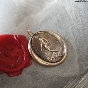 Venus Wax Seal Pendant Love Beauty Goddess antique wax seal charm jewelry - RQP Studio