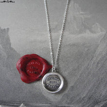 Load image into Gallery viewer, Where There's A Will There's A Way - Silver Wax Seal Necklace Proverb - RQP Studio