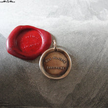 Load image into Gallery viewer, No Pain No Gain Wax Seal Charm - antique wax seal charm jewelry - French motto quote proverb pendant - RQP Studio