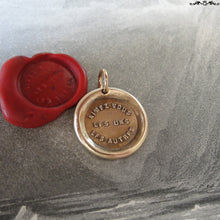 Load image into Gallery viewer, Love One Another Wax Seal Charm - antique wax seal charm jewelry French motto quote proverb pendant - RQP Studio