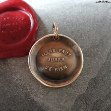 Load image into Gallery viewer, You Never Can Tell Wax Seal Charm - antique pendant jewelry French motto quote proverb pendant - RQP Studio