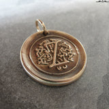 Wax Seal Charm Initial Z - wax seal jewelry pendant alphabet charms Letter Z