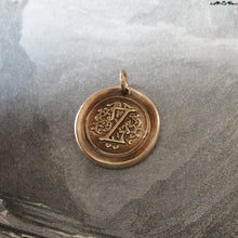 Load image into Gallery viewer, Wax Seal Charm Initial Z - wax seal jewelry pendant alphabet charms Letter Z - RQP Studio