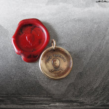 Load image into Gallery viewer, Hot Air Balloon Wax Seal Charm - Good Journey antique wax seal jewelry pendant French motto - RQP Studio