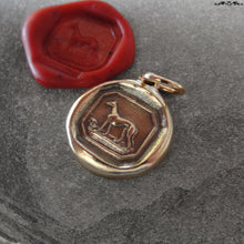 Load image into Gallery viewer, Greyhound Wax Seal Charm - antique wax seal jewelry Greyhound Dog Victorian Courage Loyalty - RQP Studio