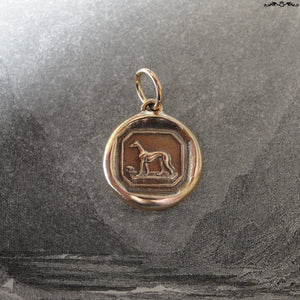 Greyhound Wax Seal Charm - antique wax seal jewelry Greyhound Dog Victorian Courage Loyalty - RQP Studio