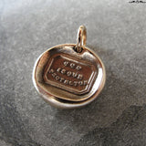 God Is Our Protector Wax Seal Charm - antique wax seal jewelry Christian Faith Protection motto