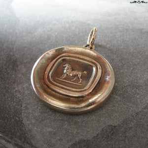 Poodle Wax Seal Pendant - antique wax seal jewelry charm French Poodle Dog - RQP Studio