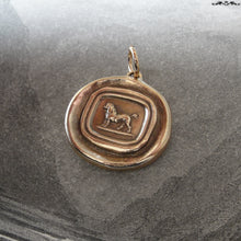 Load image into Gallery viewer, Poodle Wax Seal Pendant - antique wax seal jewelry charm French Poodle Dog - RQP Studio