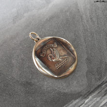 Load image into Gallery viewer, Pelican In Piety Wax Seal Pendant - antique wax seal jewelry charm Mother's Love Motherhood Latin motto - RQP Studio