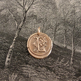 Wax Seal Charm Initial L - wax seal jewelry pendant alphabet charms Letter L