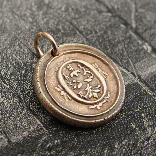 Wax Seal Charm Initial O - wax seal jewelry pendant alphabet charms Letter O - RQP Studio