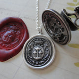 Tree of Life Wax Seal Necklace - antique wax seal charm jewelry with crest