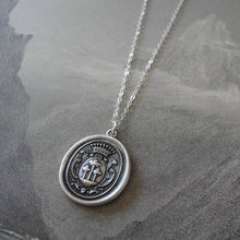 Load image into Gallery viewer, Tree of Life Wax Seal Necklace - antique wax seal charm jewelry with crest - RQP Studio