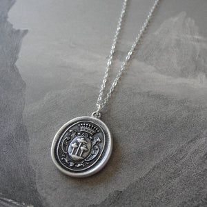 Tree of Life Wax Seal Necklace - antique wax seal charm jewelry with crest - RQP Studio