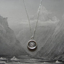 Load image into Gallery viewer, Teapot and Kettle - wax seal necklace - Don't Criticize - antique wax seal jewelry - RQP Studio