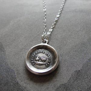 Teapot and Kettle - wax seal necklace - Don't Criticize - antique wax seal jewelry - RQP Studio