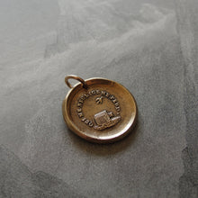 Load image into Gallery viewer, Bronze Wax Seal Pendant - Who Neglects Me Loses Me - RQP Studio