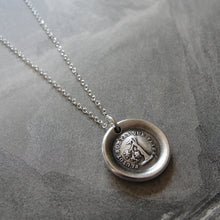 Load image into Gallery viewer, Wax Seal Necklace Rather Break Than Bend - antique wax seal charm jewelry Steadfast Tree - RQP Studio