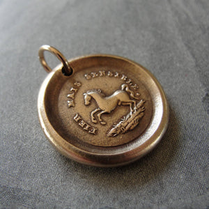 Horse Wax Seal Charm High Spirited - antique wax seal jewelry pendant Equestrian Horse Rearing - RQP Studio