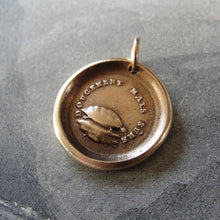 Load image into Gallery viewer, Tortoise Wax Seal Charm - antique wax seal jewelry pendant Turtle Slow And Sure Patience - RQP Studio