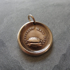 Tortoise Wax Seal Charm - antique wax seal jewelry pendant Turtle Slow And Sure Patience - RQP Studio