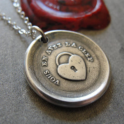Heart Padlock Wax Seal Necklace